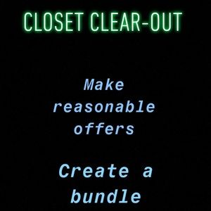 Other - CLOSET CLEAR OUT
